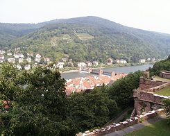 #64 View on the Heidelberg Wieblingen Dam (Germany)
