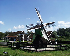 "#245 Drainage Mill ""De Hadel"" at Zaanse Schans (Holland)"