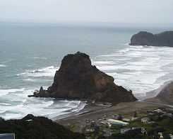 #385 Lion Rock at Piha Beach (New Zealand)