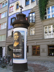 #1482 Old Advertising Column at Hundertwasser House - Vienna (Austria)