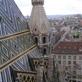 #1500 View from St. Stephen's Cathedral North Tower - Vienna (Austria)