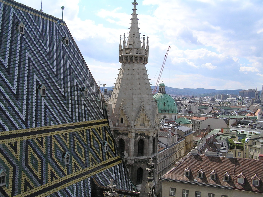 #1503 View from St. Stephen's Cathedral North Tower - Vienna (Austria)