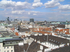 #1504 View from St. Stephen's Cathedral North Tower - Vienna (Austria)