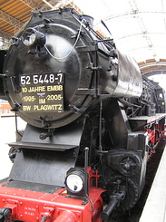 #1790 Steam Locomotive (BR 52 5448-7) - Leipzig Hbf (Germany)