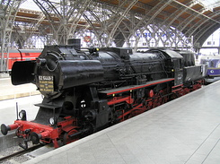 #1798 Steam Locomotive (BR 52 5448-7) - Leipzig Hbf (Germany)