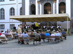 #2233 Fanfare playing at the Klosterhof of St. Mang's Abbey - Füssen (Germany)