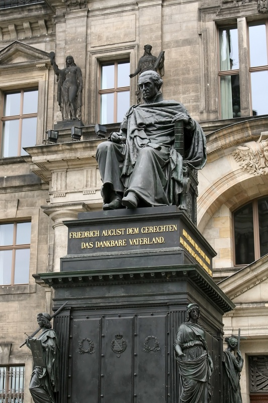 a statue of frederick augustus i the righteous  den