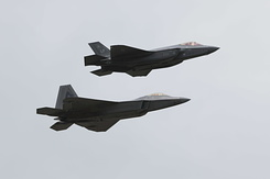 #4054 US Air Force - Lockheed Martin F-35A and F-22A formation