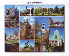 #4129 Postcard  NL-375420 sent to the United States of America
