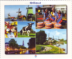 #4218 Postcard NL-3845777 sent to the United States of America