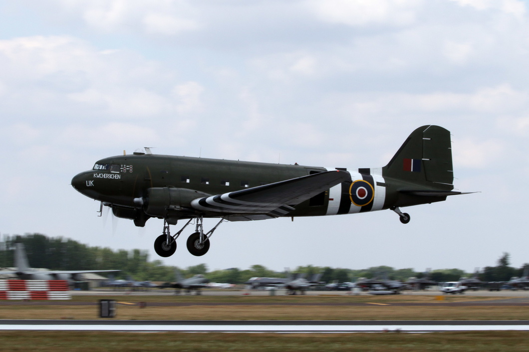 20180714-098 RAF BBMF - Douglas C-47A Dakota III (ZA947) RAF Fairford UK.jpg