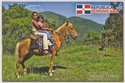 #5798 Postcard DO-3025 received from the Dominican Republic