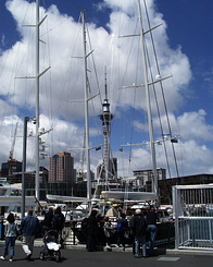 #362 Auckland Harbour with Sky Tower (New Zealand)