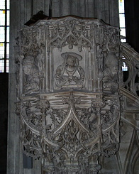 #948 Pulpit of Anton Pilgram (Stephansdom) - Vienna (Austria)