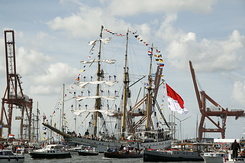 "#1337 Indonesian Tall Ship KRI ""Dewaruci"" (Sail Amsterdam 2010)"
