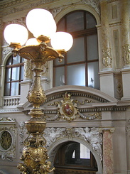 #1487 Burgtheater (Imperial Court Theatre) Electric Lighting - Vienna (Austria)