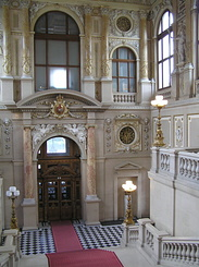 #1488 Burgtheater (Imperial Court Theatre) Emperors Staircase - Vienna (Austria)