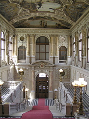 #1490 Burgtheater (Imperial Court Theatre) Left Staircase - Vienna (Austria)
