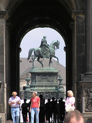 #1752 Statue King Johann of Saxony - Dresden (Germany)
