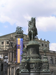 #1754 Statue King Johann of Saxony - Dresden (Germany)