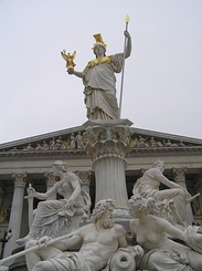 #1815 Athena Fountain at the Austrian Parliament - Vienna (Austria)