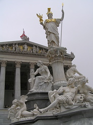 #1816 Athena Fountain at the Austrian Parliament - Vienna (Austria)