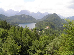 #2222 Alpsee Lake with Hohenschwangau Castle - Hohenschwangau (Germany)