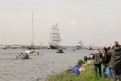 #3438 People watching the Sail In parade - Sail Amsterdam 2015 (Holland)