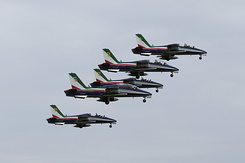 #3981 Italian Air Force (Frecce Tricolori) - Aermacchi MB-339A formation