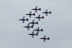 #3982 Italian Air Force (Frecce Tricolori) - Aermacchi MB-339A formation
