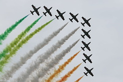 #3985 Italian Air Force (Frecce Tricolori) - Aermacchi MB-339A formation