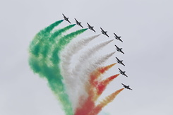 #4045 Italian Air Force (Frecce Tricolori) - Aermacchi MB-339A formation