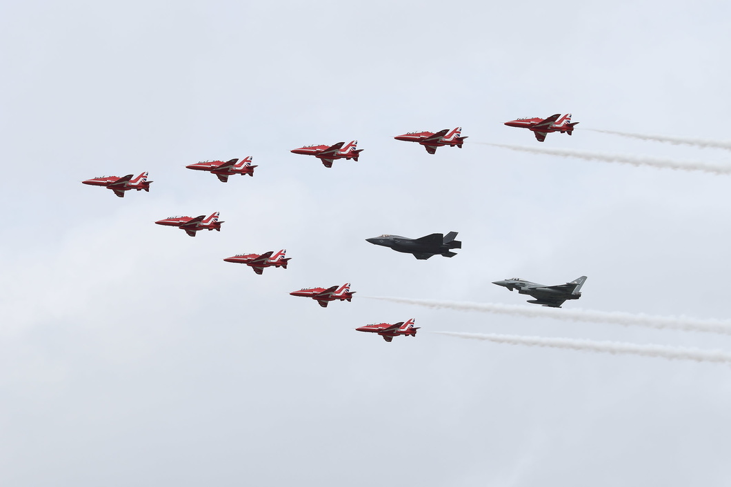 20160709-037 Royal Air Force (Red Arrows) - Hawk-F-35-Eurofighter at RAF Fairford UK.jpg