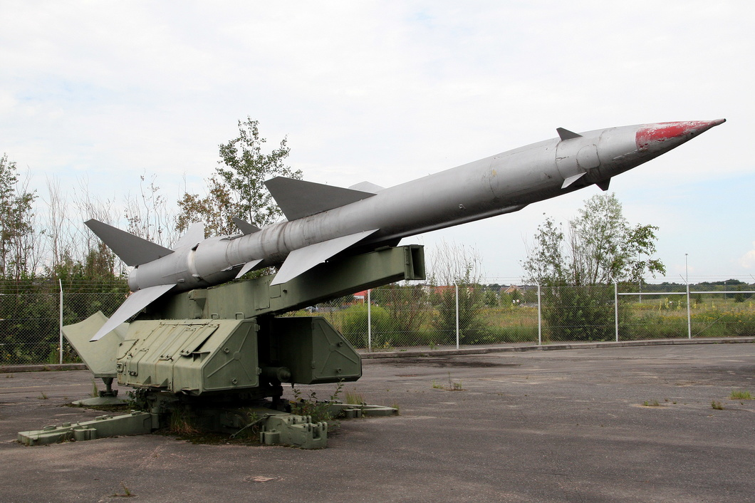 20110727-003 East German Air Force - NPO Almaz S-75 Dvina Missile (SA-2 Guideline) Luftwaffenmuseum DE.jpg