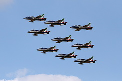 #5514 Italian Air Force (Frecce Tricolori) - Aermacchi MB-339A formation