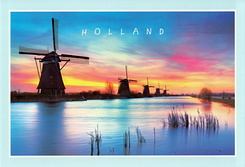 #6273 Postcard NL-4651244 sent to the United States of America
