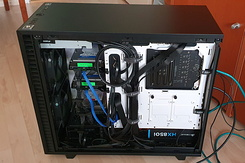 #6566 Fractal Design Define 7 - (Back) Side View with additional HDDs installed