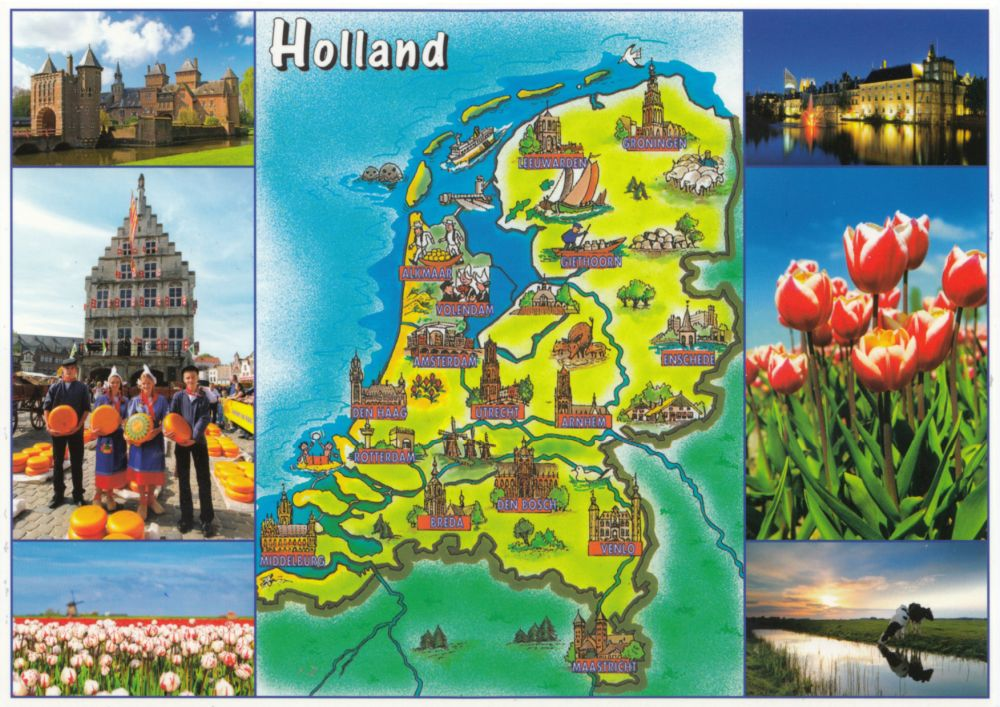 #5899 Postcard NL-4484698 sent to the Czech Republic